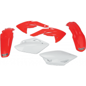 UFO PLASTIC BODY KITS , CRF150R (07-11) RED / WHITE