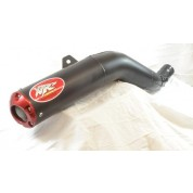 XRs Only Exhaust Pipe - Honda XR650R - Steel Round / Ceramic Black