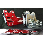 XRs Only Chain Guide - 2 Hole -Honda -CRF150  (Red / Sliver)
