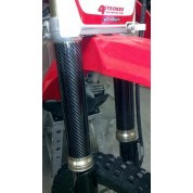XRs Only Showa/KYB Forks Carbon Fiber Fork Guards - Honda CR125R CR250R CR500R CRF250R CRF250X CRF450R CRF450X KTM Inverted Forks