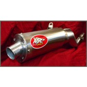 XRs Only Exhaust Pipe - Honda XR250R / XR250L (86-95) - Stainless Steel Oval