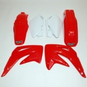 UFO PLASTIC BODY KITS , CR85R (03-07) Red / White