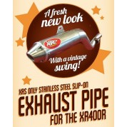 XRs Only Exhaust Pipe - Honda XR400R - Stainless Steel / Cone Tip