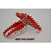 4 STROKES UNLIMITED Pro Foot Pegs - Honda CRF150R CRF250R CRF250X CRF250L CRF450R CRF450X (Red, or  Black)
