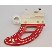 XRs Only UNLIMITED Shark Fin / Disc Guard - Honda XR650R - (BLACK/RED/SLIVER)