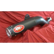 XRs Only Exhaust Pipe - Honda XR650R - Steel Round / Ceramic Black / Suppertrapp Sliver