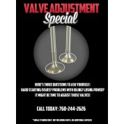 SHOP SERVICE: VALVE ADJUSTMENTS
