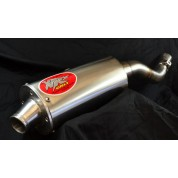 XRs Only Exhaust Pipe - Honda XR250R (1996-UP) - STAINLESS STEEL OVAL