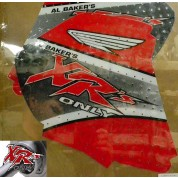XRs Only Tank Graphics - Honda XR250R (96-UP) XR400R - RED / BLACK / WHITE ON RED BACKGROUND
