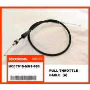 OEM Honda Throttle Cable (A) XR600R, (88-00) PULL
