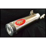 XRs Only Exhaust Pipe - Honda XR250R / XR250L (1986-1995) - Stainless Steel Round