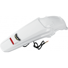 UFO Enduro Rear Fender - Honda CRF450X (05-15) WHITE  W/ Tail Light