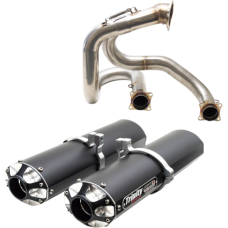 TRINITY STAGE 5 DUAL EXHAUST SYSTEM, CAN-AM MAVERICK XDS TURBO (15-16) BLACK