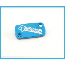 4 Strokes Unlimited Brake Resevoir Cover Front - Honda CR80/85/125/250/500 / CRF150/230/250/450R/X / XR250R / XR400R / XR650R  BLUE