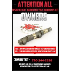 SHOP SERVICE: CAMSHAFT REFIT XR500R (83-84) XL600R (ALL YRS) XR600R (85-87)