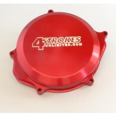 4 STROKES UNLIMITED T6 Billet Aluminum Clutch Cover - Honda CRF450R (09-14)