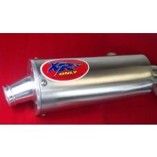 XRs Only Exhaust System - Kawasaki KLX400SR (03-04) Suzuki DRZ400 (06-07) DRZ400SM (05-08) DRZ400S (00-07) - COMPLETE MUFFLER PIPE / HEADER