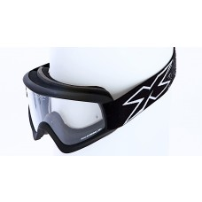 X-BRAND FLAT-OUT GOGGLES, MATTE BLACK