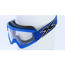 X-BRAND FLAT-OUT GOGGLES, MATTE BLUE