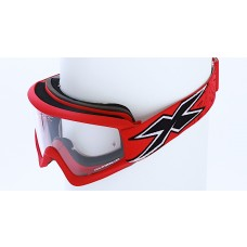 X-BRAND FLAT-OUT GOGGLES, MATTE RED