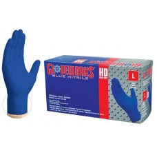 Gloveworks Nitrile Rubber Gloves Heavy Duty 6mil (Royal Blue) 100 Count Box