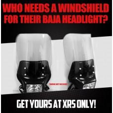 Windshield for Baja Head Lights / (Lite Gray)