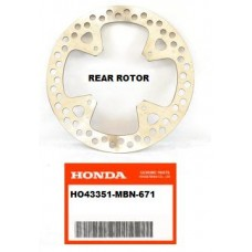 OEM Honda Rear Brake Rotor. XR650R (00-07)