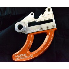 """BLOW-OUTS"" 4 STROKES UNLIMITED Shark Fin / Disc Guard - KTM Models (04-UP) - ORANGE/BLACK/SILVER"