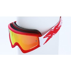 X BRAND LIMITED GOGGLES, Stealth Liquid Gummi Red
