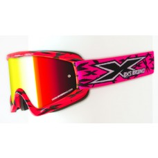 X BRAND SCATTER X / FADE GOX GOGGLES, Scatter Flo Pink