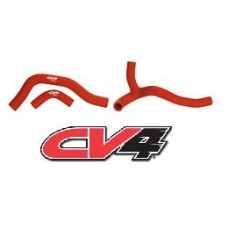 CV4 Radiator Hose Kit Honda CRF450R (06-08) Y-Kit Red