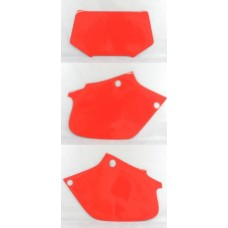 DIRT DIGITS Front Number Plate & Side Panel Vinyl Back Ground (Red) XR250R (96-04) XR400R (96-04)