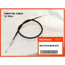 OEM Honda Throttle Cable (A) XR650L, (93-16) PULL