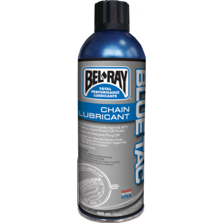 BEL-RAY BLUE TAC LABEL CHAIN LUBE