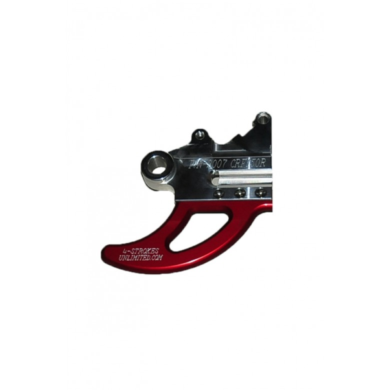 """""""BLOW-OUTS"""" 4 STROKES UNLIMITED Shark Fin / Disc Guard - Honda CRF150R - RED"""