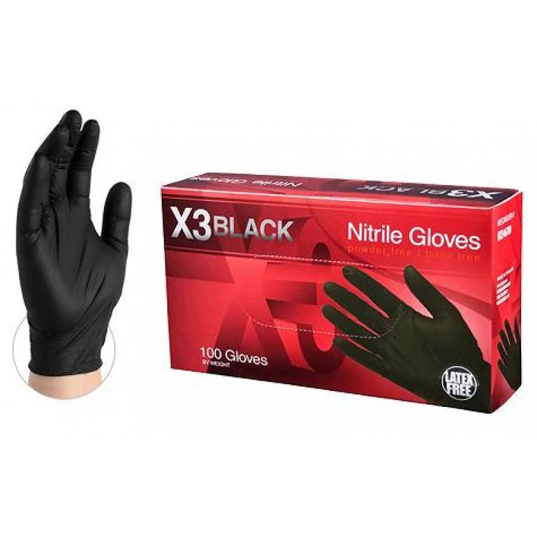 Gloveworks Nitrile Rubber Gloves Heavy Duty 6mil (Black) 100 Count Box