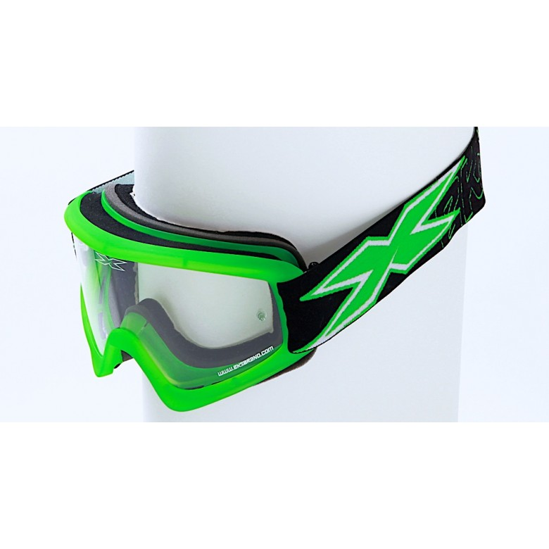 X-BRAND FLAT-OUT GOGGLES, Flatout Liquid Flo Green
