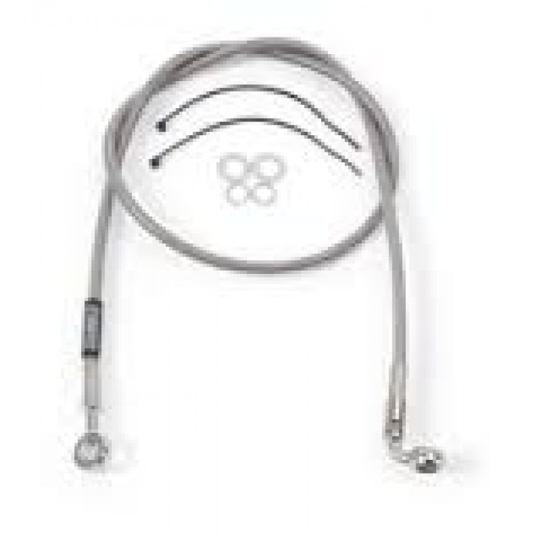 Russell Stainless Steel Braided Front Brake Line - Honda CR125R (04-05) CR250R (2004) CRF250R (04-05)