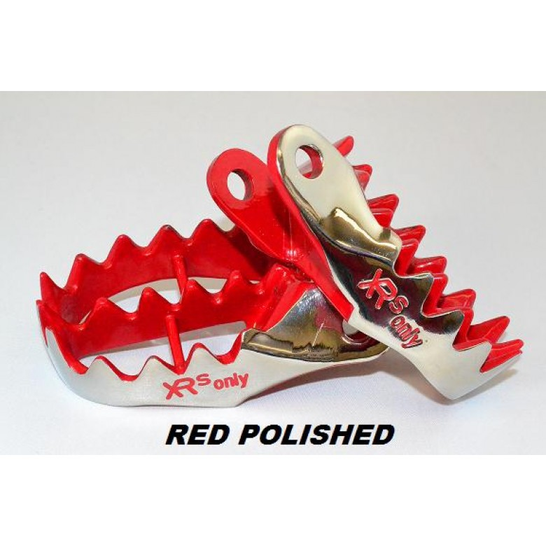 XRs Only Foot Pegs - Honda XR250R (96-UP) XR400R XR600R XR650L XR650R CRF230L (Grey & Red)