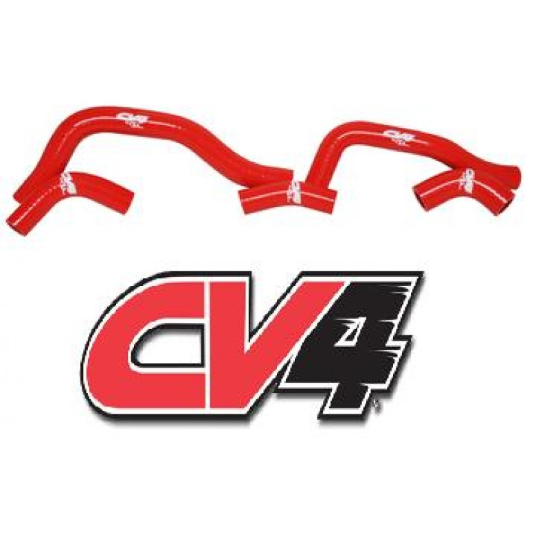 CV4 Radiator Hose Kit Honda CRF450R (2005) Red