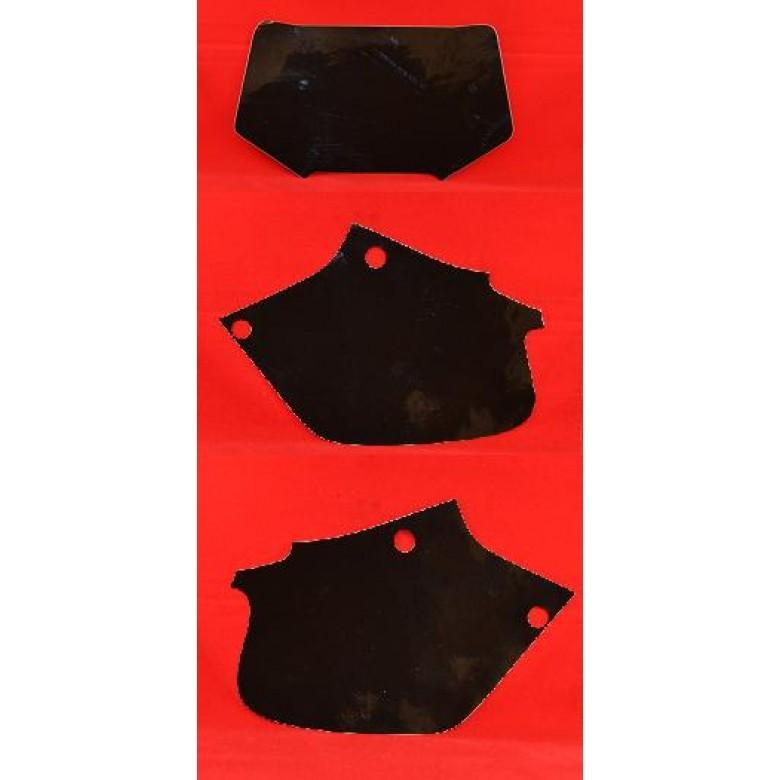 DIRT DIGITS Front Number Plate & Side Panel Vinyl Back Ground (Black) XR250R (96-04) XR400R (96-04)