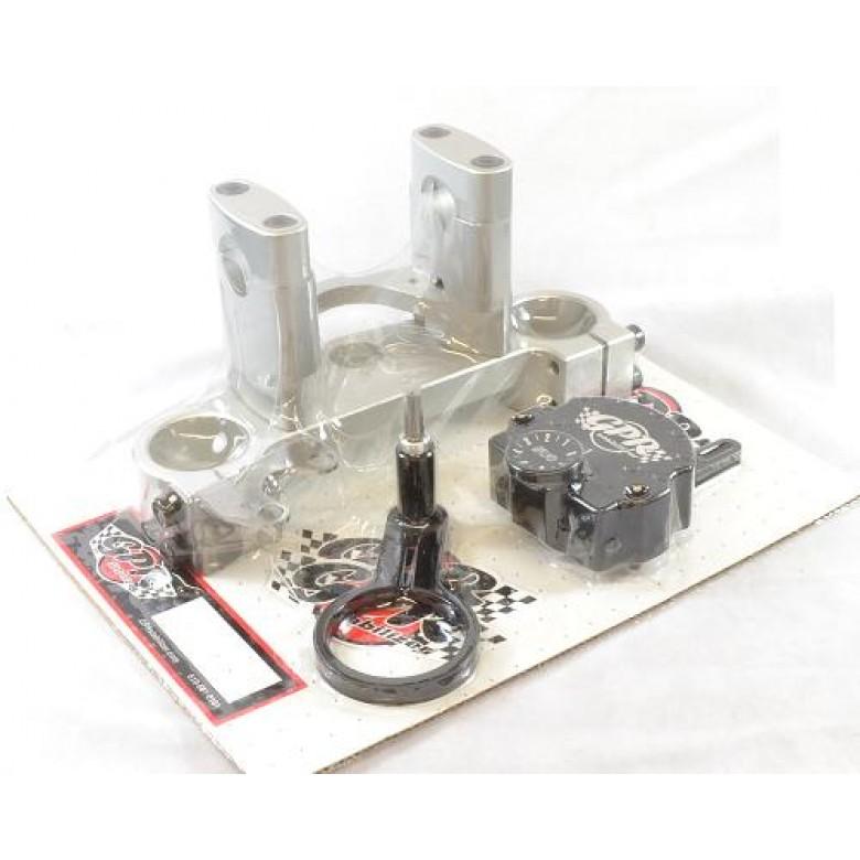 GPR Steering Stabilizer / Damper - Honda XR400R (96-04) XR600R 88-00) - Pro V2 Fat Bar Kit Submount