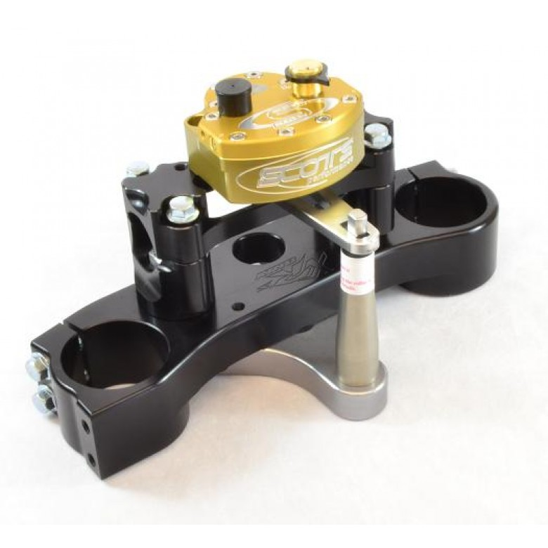 XRs Only Competition Triple Clamp W/ Scott Stabilizer Kit - Honda XR650R (Black Triple Clamp)