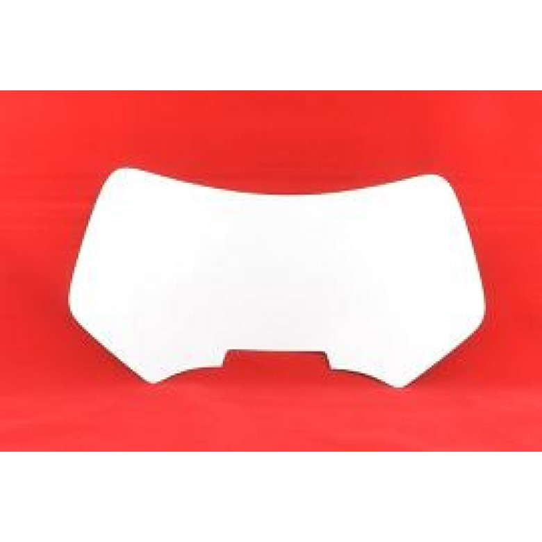 DIRT DIGITS Front Number Plate (WHITE) Vinyl Back Ground XR650R (00-07)