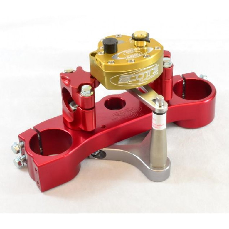 XRs Only Competition Triple Clamp W/ Scott Stabilizer Kit - Honda XR650R (Red Triple Clamp)