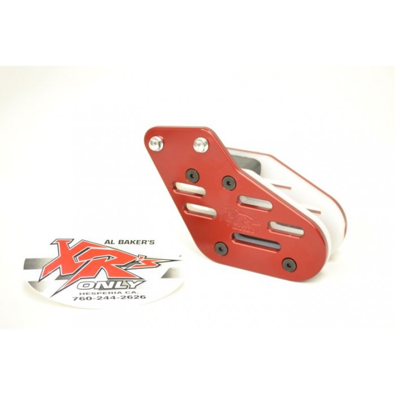 XRs Only Chain Guide - 2 Hole - Honda XR650L - RED