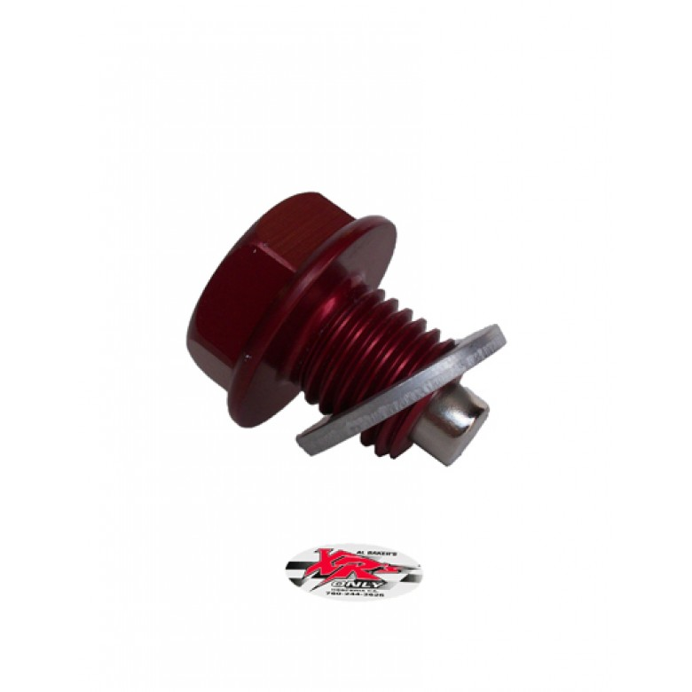 XRs Only Magnetic Oil Drain Plug - Engine - RED