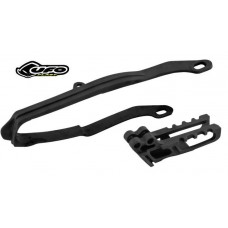 UFO Chain Guide and Slider Kit (Black)   Honda  CR125R (2007) CR250R (2007) CRF250R  (07-09)  CRF250X (07-16) CRF450R (07-08)  CRF450X  (07-16)