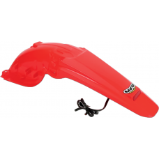 UFO Enduro Rear Fender - Honda CRF450X (05-15) CR RED  W/ Tail Light