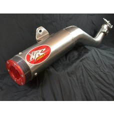 XRs Only Exhaust Pipe - Honda XR250R (1996-UP) - STAINLESS STEEL ROUND, SUPER TRAP